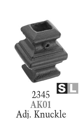 2345 Series AK01 Adjustable Knuckle with Set Screw