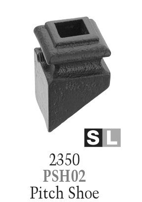 2350 Series PSH02 Pitch (With Set Screw) Shoe For 1/2 in Square Baluster