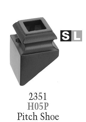 2351 Series H05P Pitch (With Set Screw) Shoe For 9/16 in Square Baluster