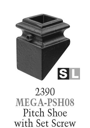 2390 Series MEGA-PSH08 Pitch Shoe For 3/4 in. Square Baluster