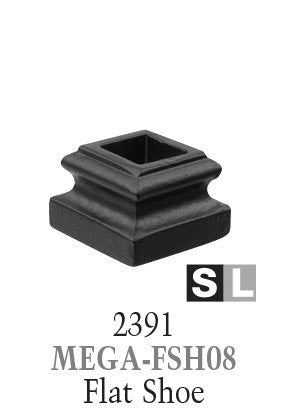2391 Series MEGA-FSH08 Flat Shoe For 3/4 in. Square Baluster