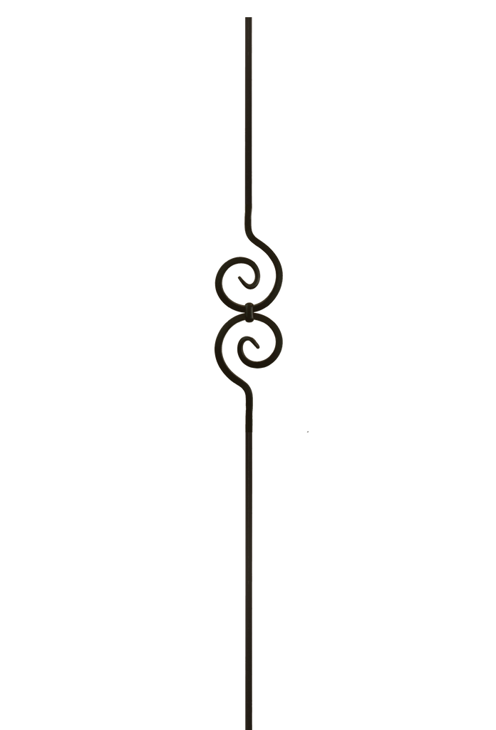 2582 Series M32544 Spiral Scroll Iron Baluster