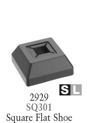 2929 Series SQ301 Universal Base Shoe for 1/2 in or 9/16 in Square Baluster
