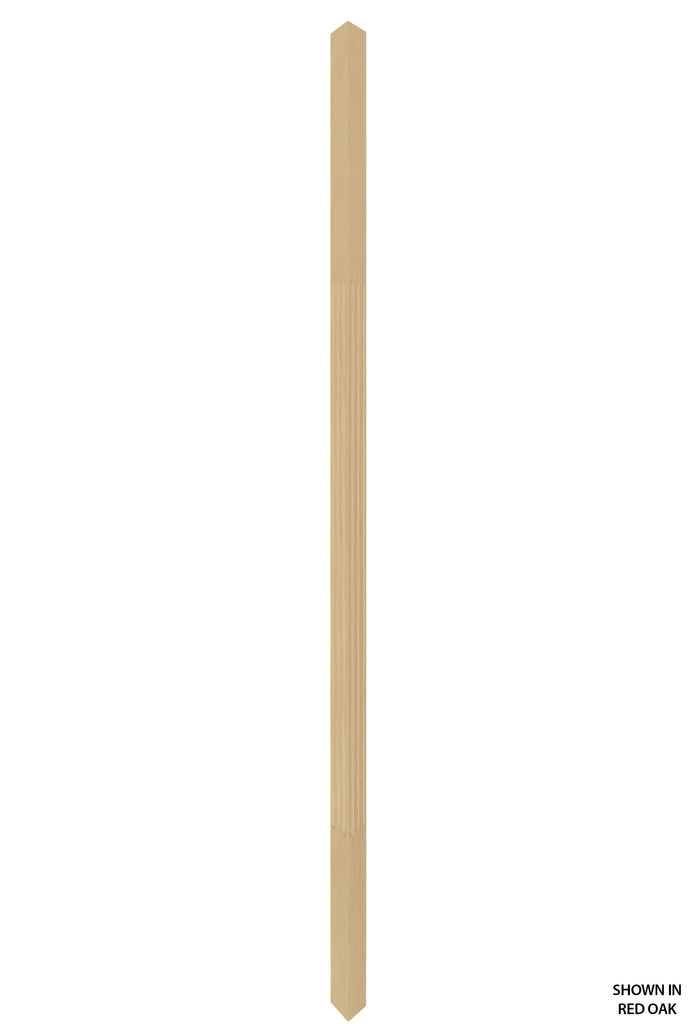 Contemporary Series - 5060F Profile 1 1/4 Inch Fluted Square Wood Baluster