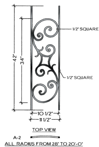 Seville Series - A2 Curved Level Panel