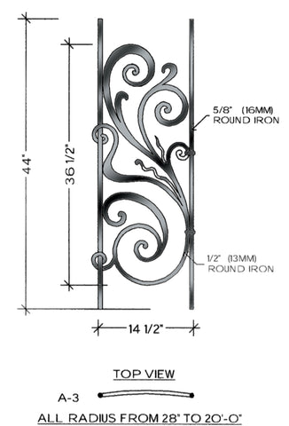Rebecca Series - A3 Curved Level Panel