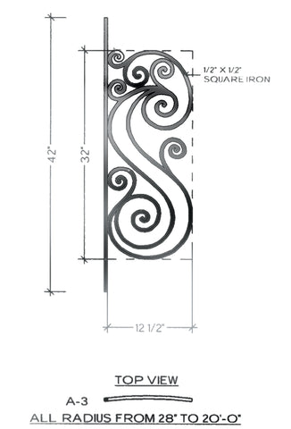 Victoria Series - A3 Curved Level Panel