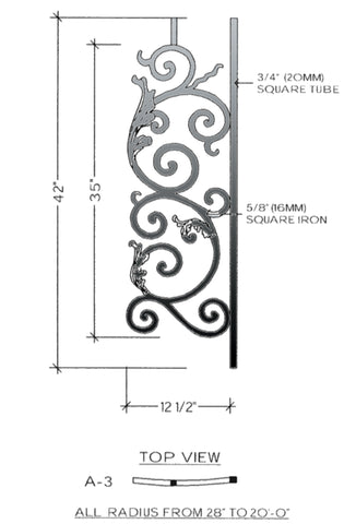 Bordeaux Series - A3 Curved Level Panel