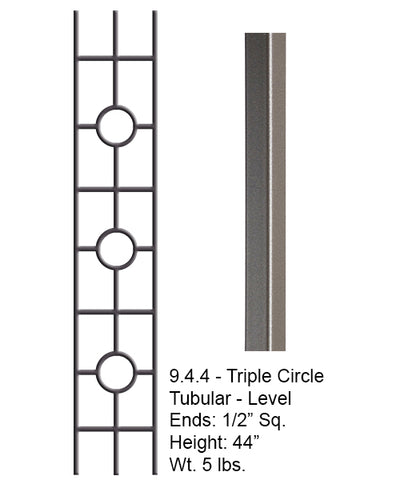 9.4.44 Aalto Modern Series Square Tripple Ring Hollow Baluster