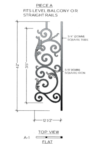 Bordeaux Series - A1 Straight Level Panel