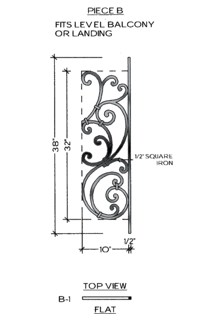 Tuscany Series - B1 Straight Level Panel