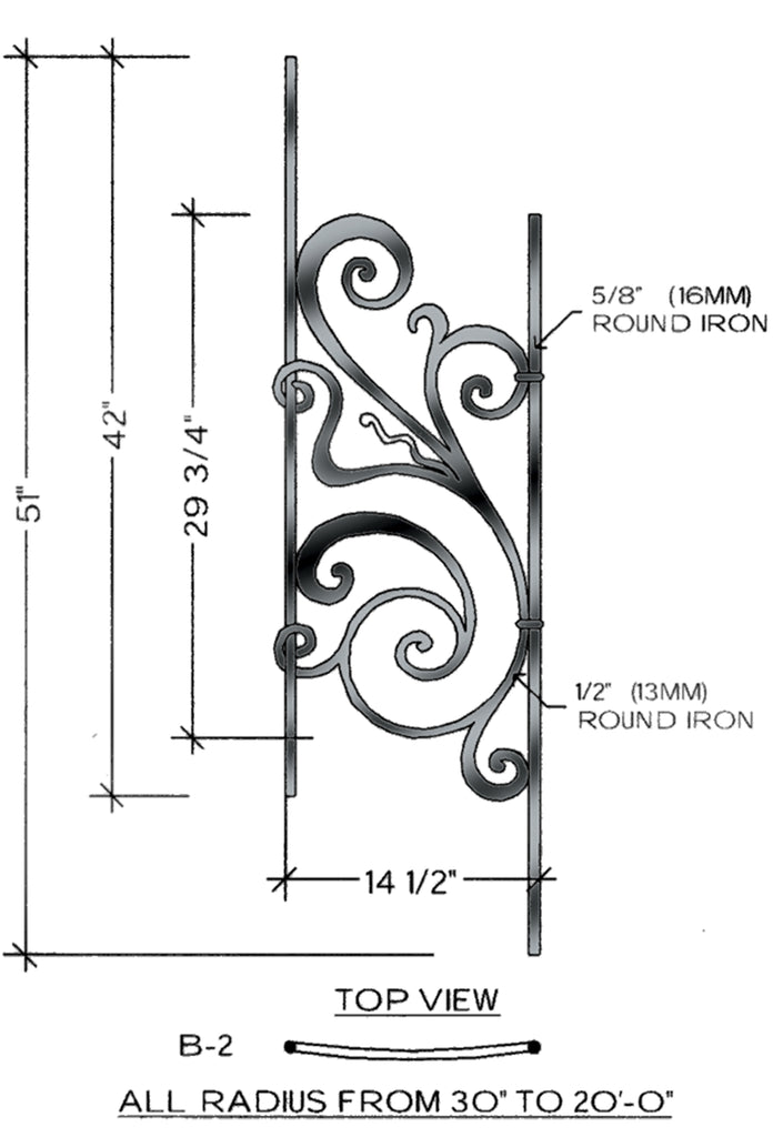 Rebecca Series - B2 Curved Pitch Panel