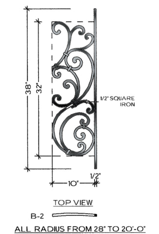 Tuscany Series - B2 Curved Level Panel