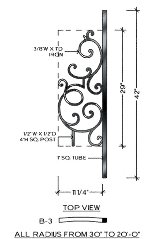 Regency Series - B3 Curved Level Panel