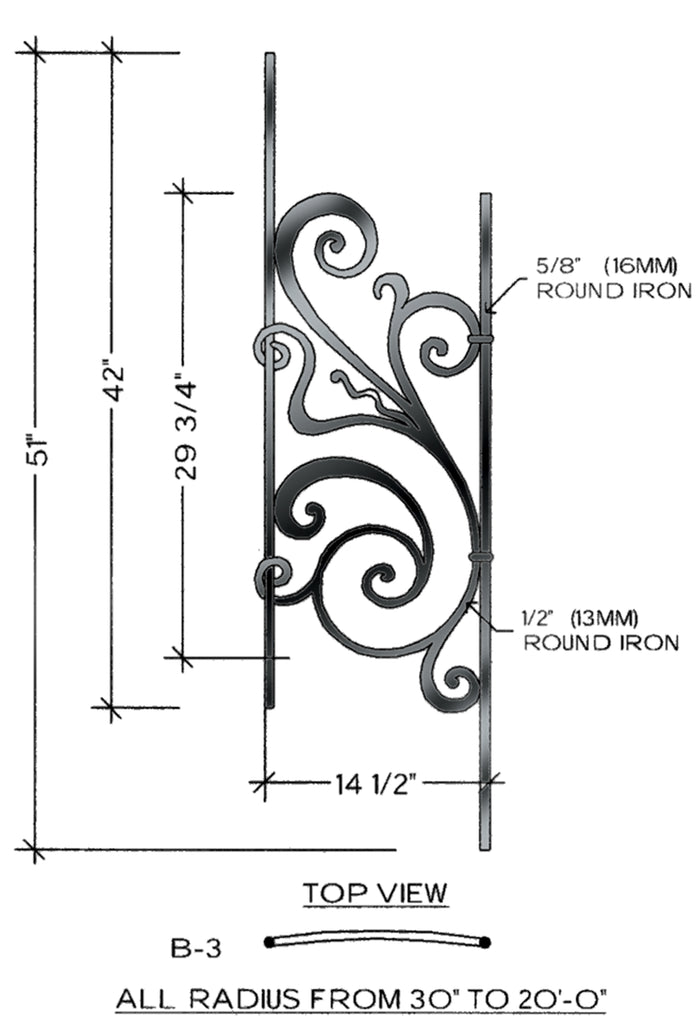 Rebecca Series - B3 Curved Pitch Panel