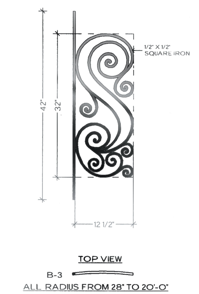 Victoria Series - B3 Curved Level Panel