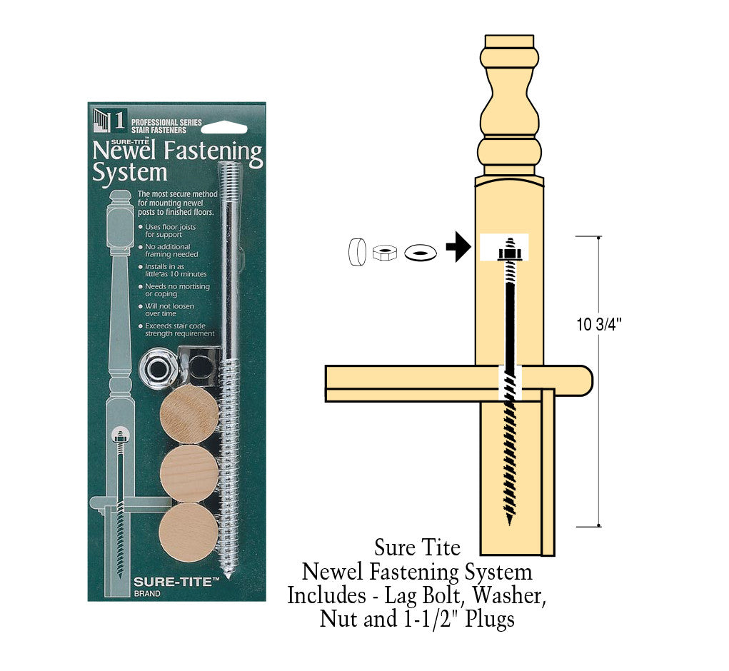 C-3008, SURE-TITE Newel Attaching Hardware With Plugs