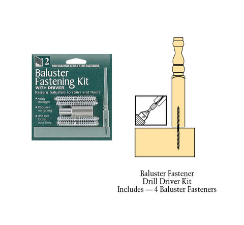C-3201, Baluster Fastener Kit With Drill Driver