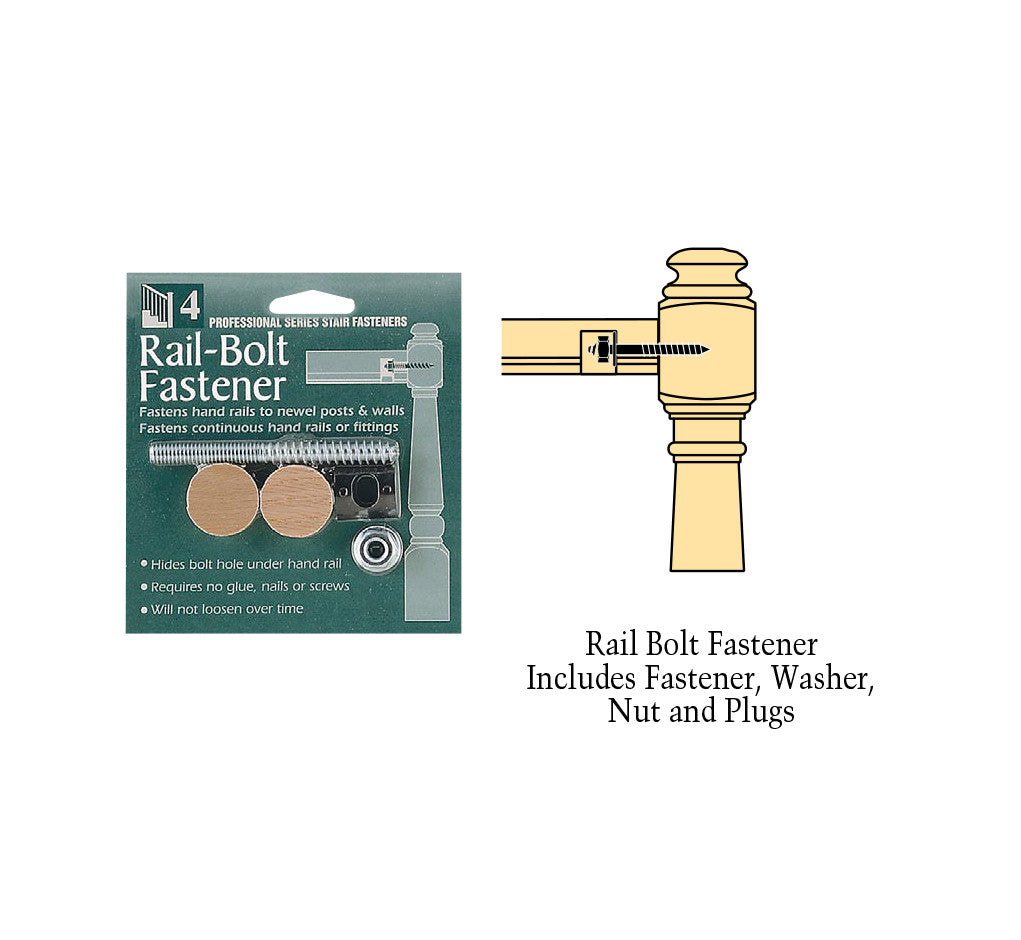 C-3302, Rail Bolt Fastener With 1 in. Flush Mount Plugs
