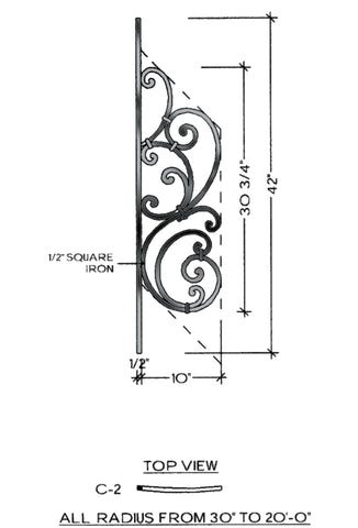 Tuscany Series - C2 Curved Pitch Panel