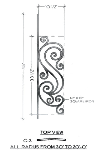 Victoria Series - C3 Curved Pitch Panel