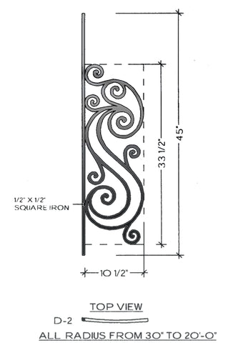 Victoria Series - D2 Curved Pitch Panel
