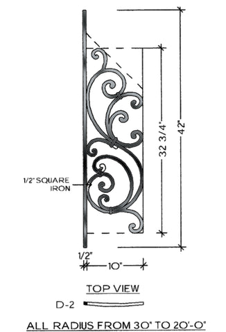 Tuscany Series - D2 Curved Pitch Panel