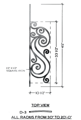 Victoria Series - D3 Curved Pitch Panel
