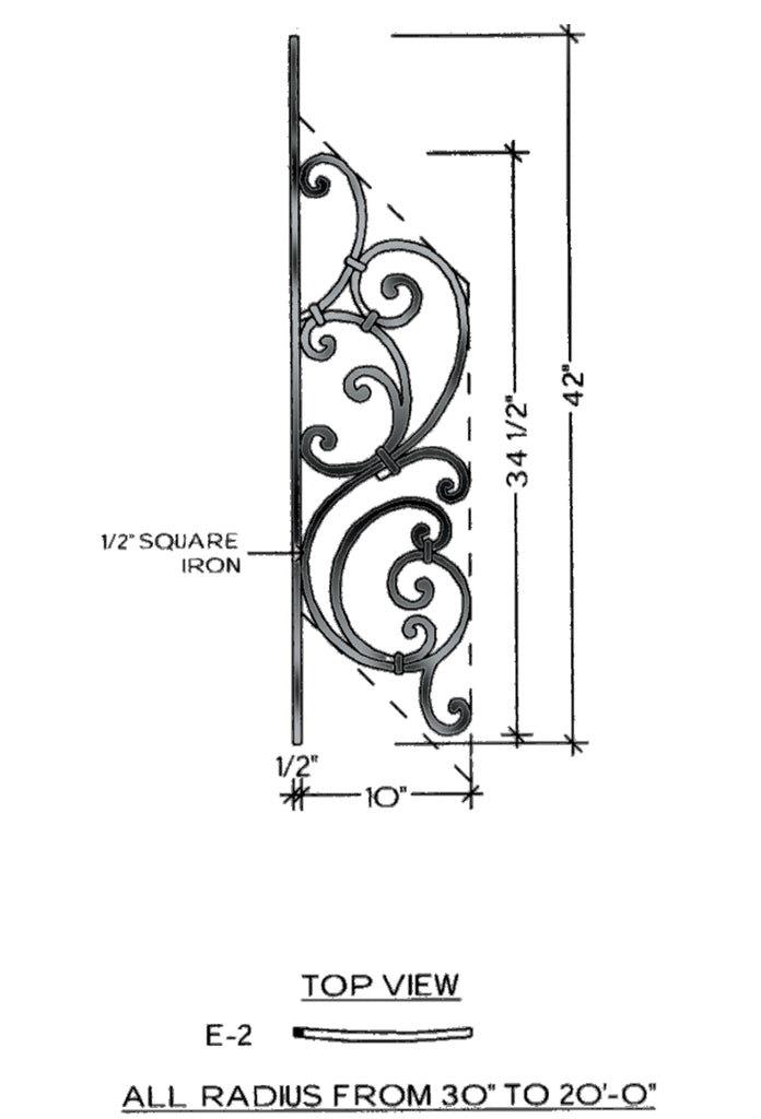 Tuscany Series - E2 Curved Pitch Panel