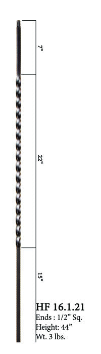 HF 16.1.21 Long Single Twist Iron Baluster
