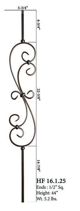 HF 16.1.25 Large Spiral Scroll Iron Baluster