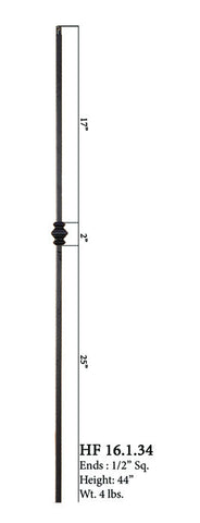 HF 16.1.34 Single Knucle Iron Baluster