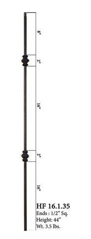 HF 16.1.35 Double Knucle Iron Baluster