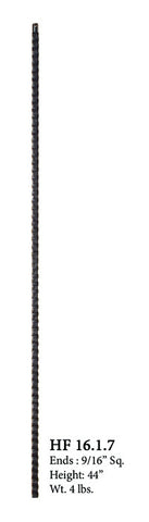 HF 16.1.7 Plain Square Face Hammered Iron Baluster