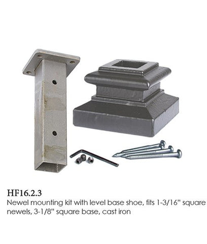 HF 16.2.3 (2360) Mounting Kit With Shoe For 1-3/16 Inch Square Newels