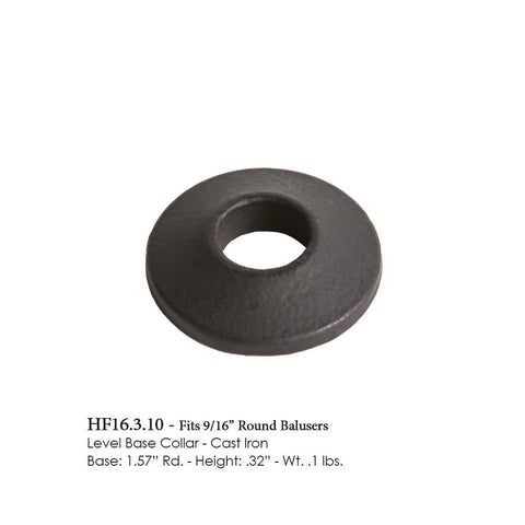 16.3.10 Level Base Collar for 9/16 Inch Round Balusters