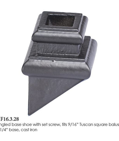 HF 16.3.28 Angled Base Shoe With Set Screw