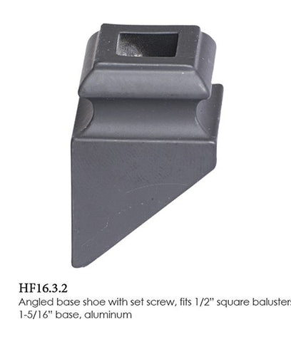 HF 16.3.2 Angled Base Shoe With Set Screw