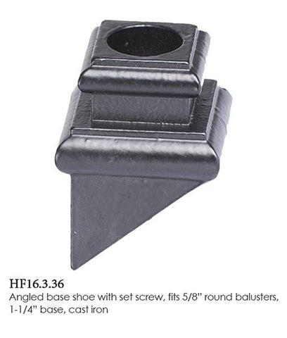 HF 16.3.36 Angled Base Shoe With Set Screw