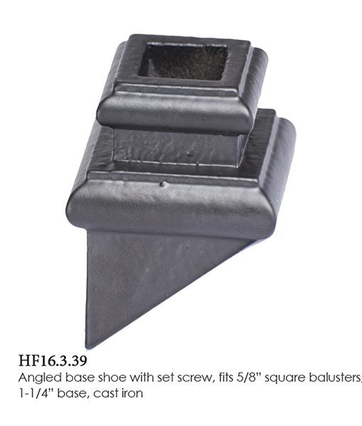 HF 16.3.39 Angled Base Shoe With Set Screw