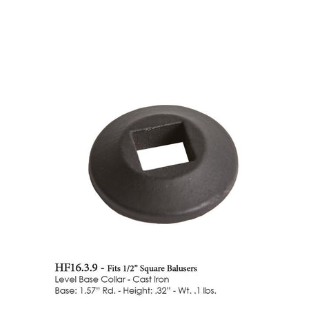 16.3.9 Level Base Collar for 1/2 Inch Square Balusters