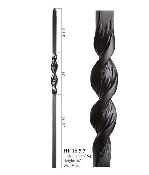 HF 16.5.7 Single Ribbon Iron Newel