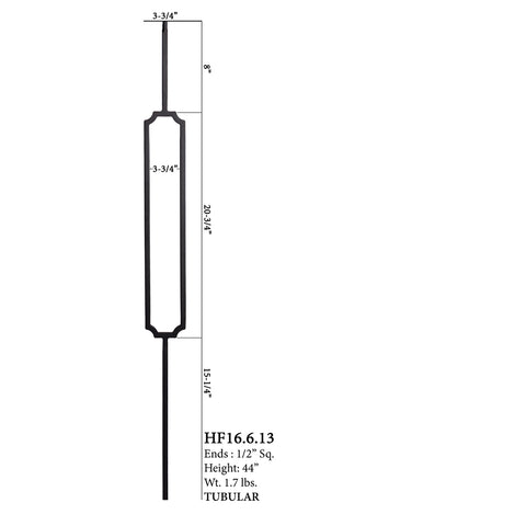 16.6.13 - Harmony Series Scalloped Rectangle Baluster