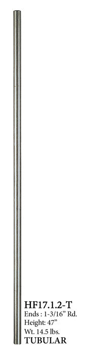 17.1.2-T Plain Round Stainless Steel Hollow Newel Post