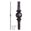 2.9.28-T Single Sphere Hammered Hollow Iron Baluster