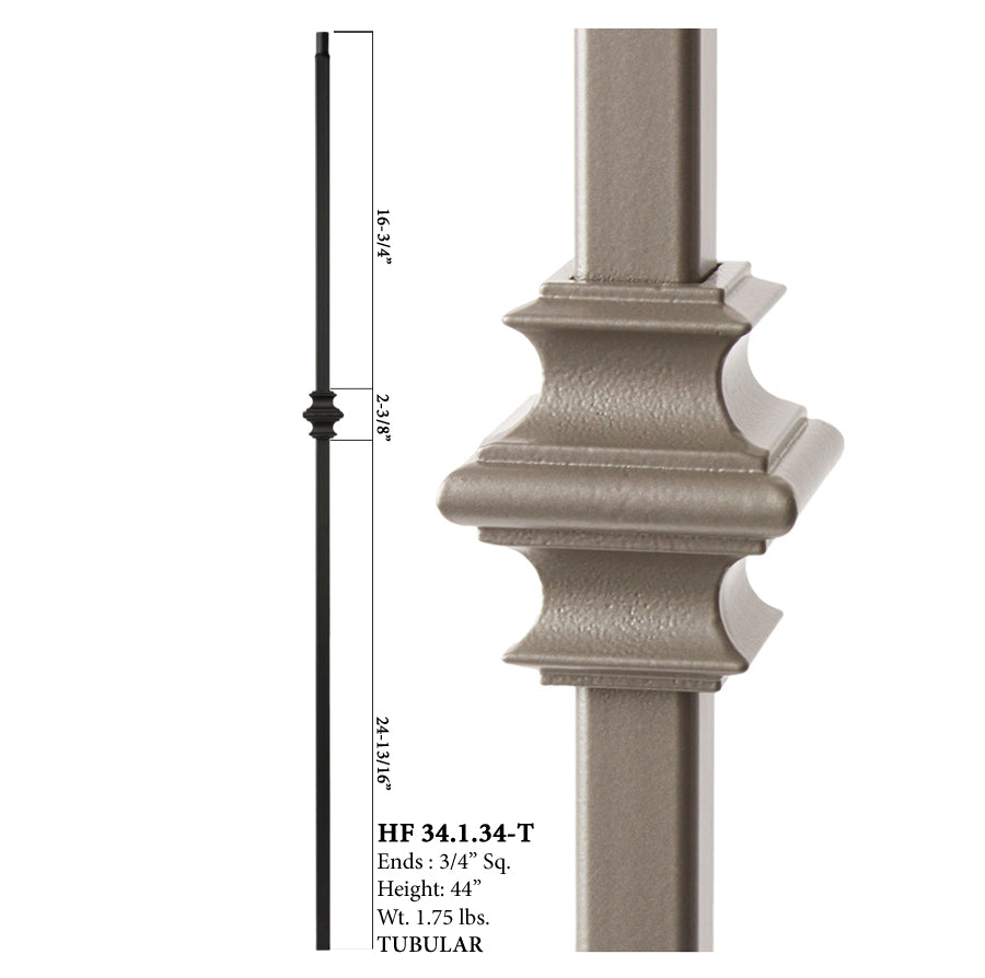 34.1.34-T Mega Series Single Knuckle Hollow Iron Baluster