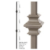 34.1.35-T Mega Series Double Knuckle Hollow Iron Baluster