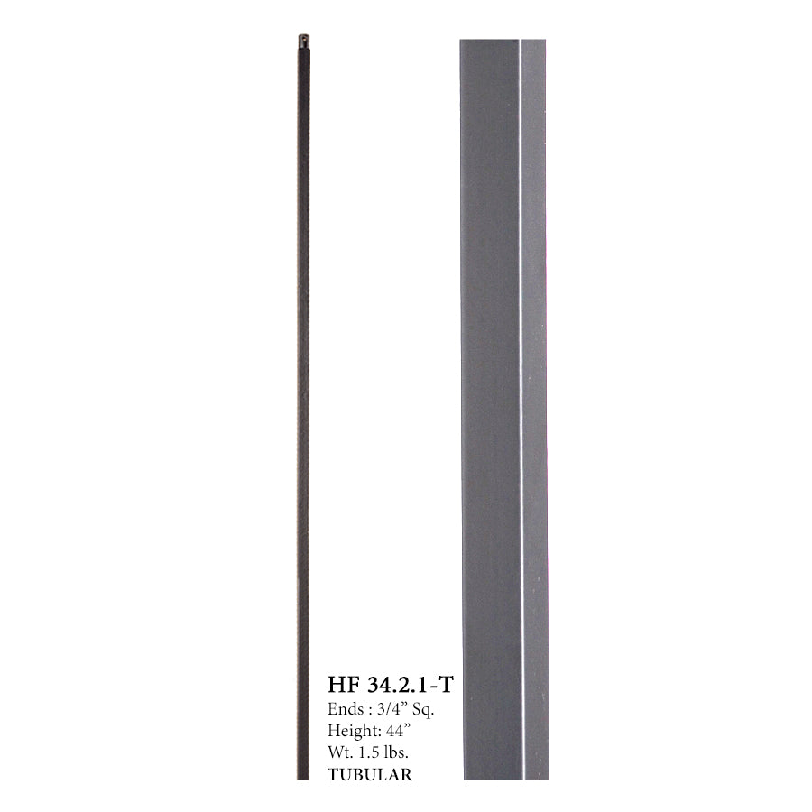34.2.1-T Mega Series Plain Bar Hollow Iron Baluster