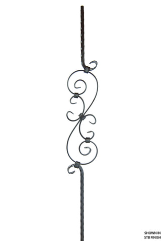 2797 Series M303 Forged Scroll Mediterranean Iron Baluster