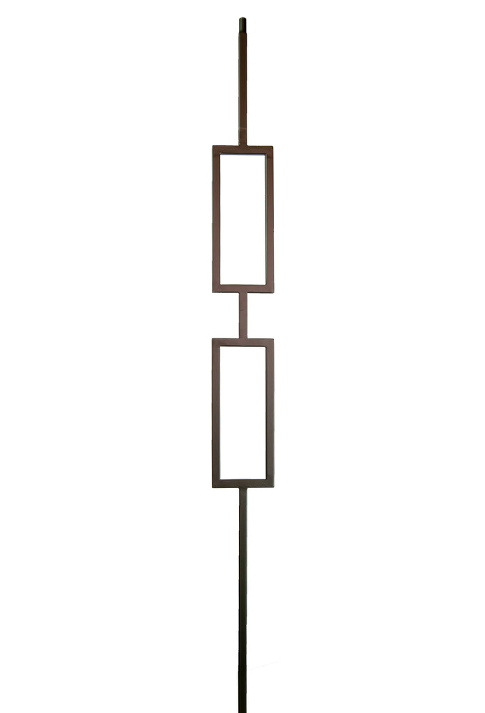 2671 Series M438 Double Rectangle Iron Baluster